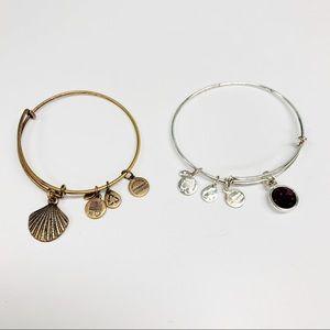 Set of 2 Alex and Ani Energy Charm Bracelets